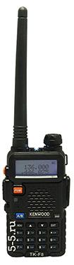 Двухдиапазонная носимая радиостанция Kenwood TK-F8 Dual, 8 Вт, FM радиоприёмник, 136-174 и 400-520 МГц, версия 2015 г., Li-Ion аккумулятор 2200 мАч