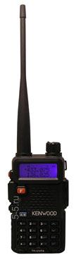 Двухдиапазонная носимая радиостанция Kenwood TK-UVF8, 8 Вт, FM радиоприёмник, 136-174 и 400-520 МГц, версия 2014 г., Li-Ion аккумулятор 2400 мАч