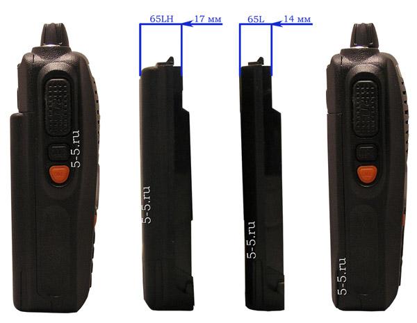 Сравнение аккумулятора Kenwood TH X5 2000 Мач и 2400 Мач