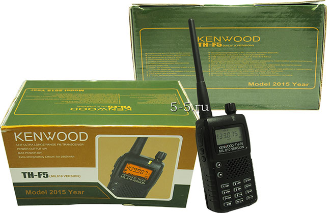 Упаковка рациии Kenwood TH-F5