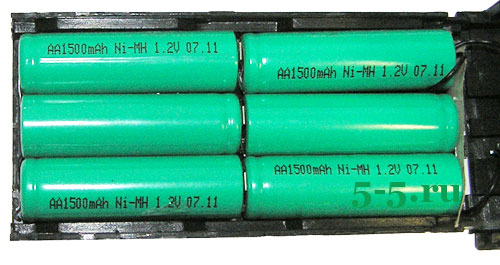 аккумулятор KNB-15 вид изнутри